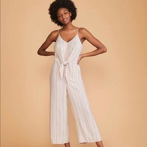 Lou and Grey Stripped Tie Waist Jumpsuit